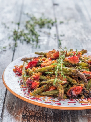 fagiolini al forno sabbiosi vegetables food photography
