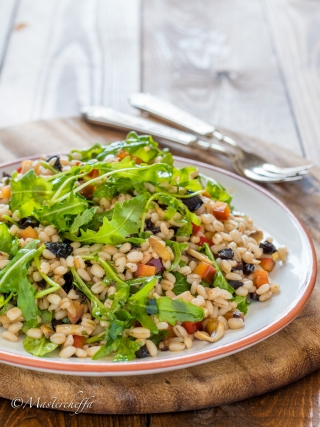 Insalata di orzo vegetariana salads food photography
