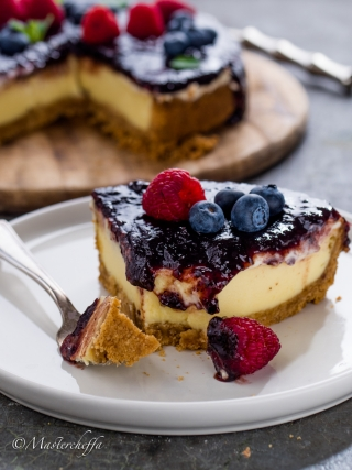 new york cheesecake ai frutti rossi desserts food photography