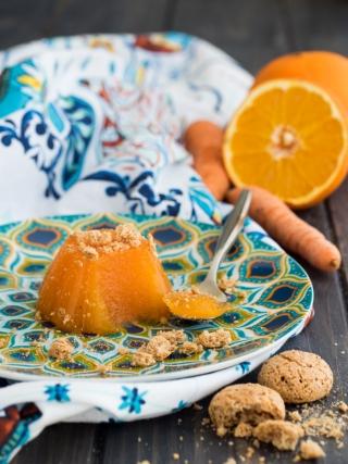 budino arancia carota- desserts food photography