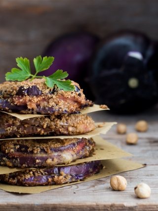 cotolette melanzane nocciole vegetables food photography