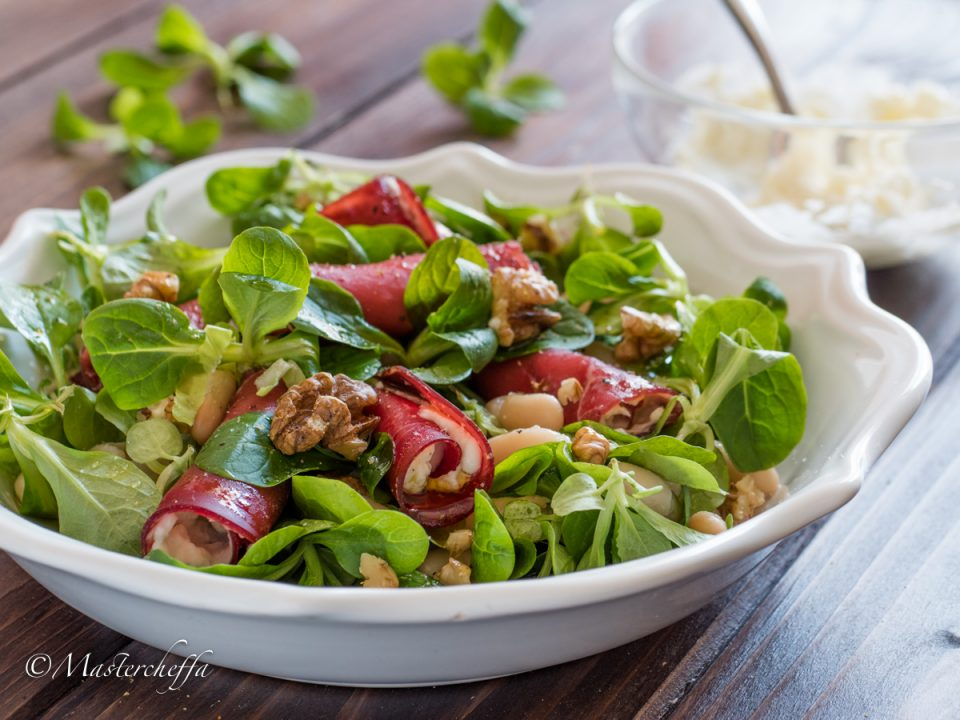 insalata fantasia- salads food photography