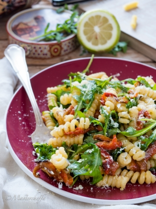 insalata pasta tiepida- salads food photography