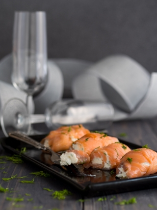 involtini salmone affumicato merry christmas food photography