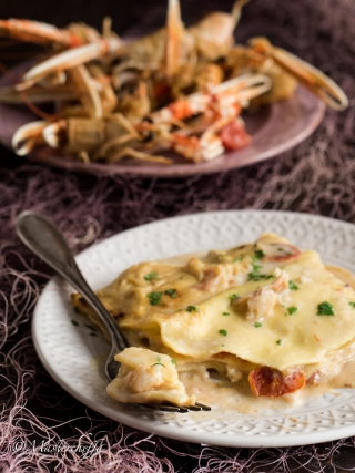 lasagne alla crema di scampi- merry christmas food photography