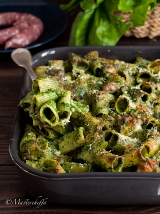 pasta al forno spinaci e salsiccia pasta & co. food photography