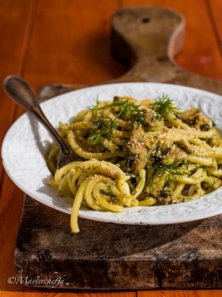pasta con le sarde sicilia bedda food photography