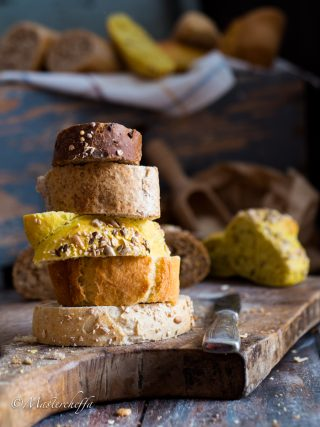 the colours of bread food photography