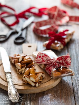 torrone al miele e mandorle christmas food photography