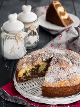 torta bicolore ricotta desserts food photography