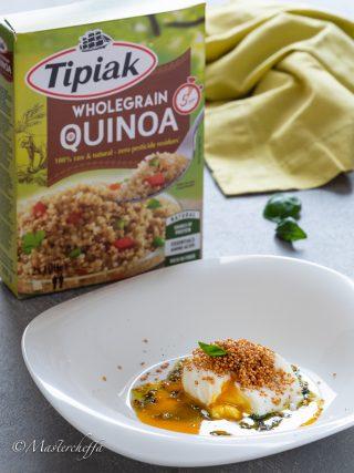 uova in camicia con quinoa fritta food photography ads